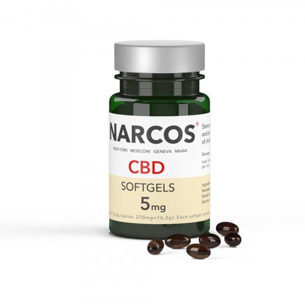 NARCOS® CBD Softgel 5mg